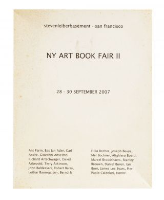 From cover of box]: NY Art Book Fair II, 28-30 September 2007