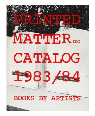 From upper cover]: Catalog 1983/84, Books by Artists