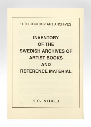 Inventory of the Swedish Archive of Artist Books and Reference Material.
