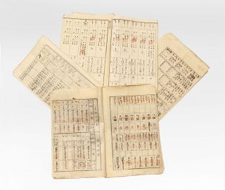 A collection of eleven manuscript notebooks kept by the Ikegami Sake Brewery in what is today Minami fukashi, Matsumoto, Nagano Prefecture.